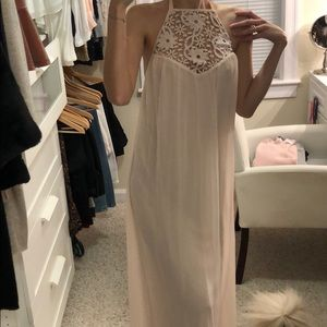 Zara light pink blush maxi dress